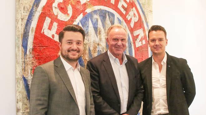 Karl-Heinz Rummenigge (M.) sprach mit den SPORT1-Reportern Stefan Kumberger (l.) und Florian Plettenberg