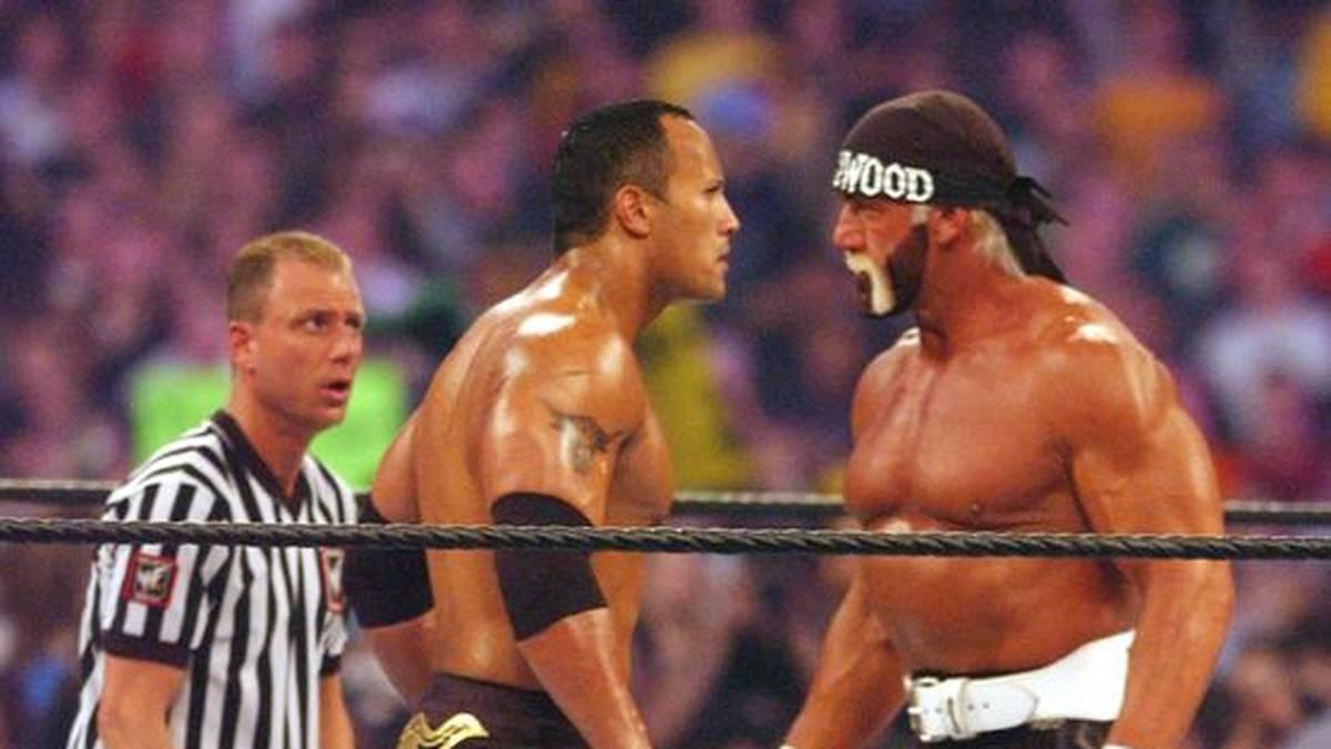 "Hulk Hogan bestritt 2002 noch ein großes WWE-Match gegen ""The Rock"" Dwayne Johnson"