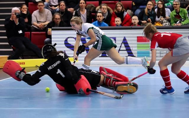 Torhüterin Helen Heitmann (l.) wurde im Finale zur Heldin