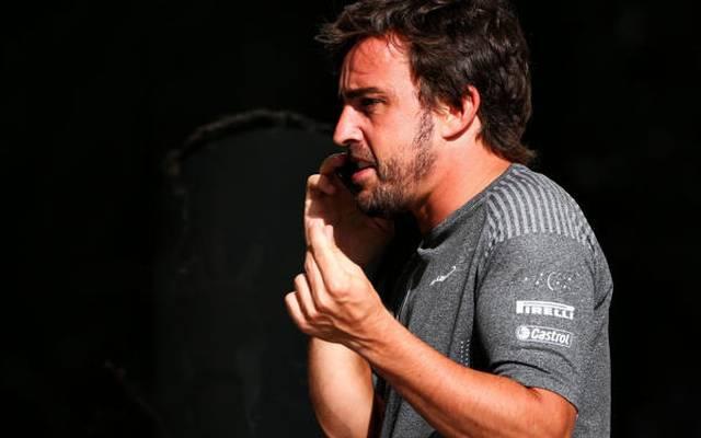 Fernando Alonso wollte seinem Kumpel Antonio Garcia zum Sieg gratulieren
