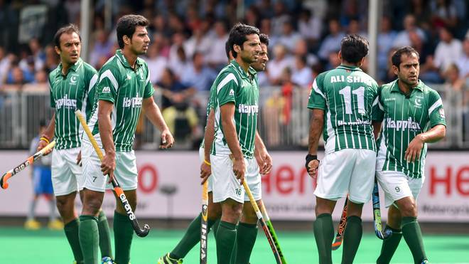 Spieler von Pakistan bei der World Hockey League