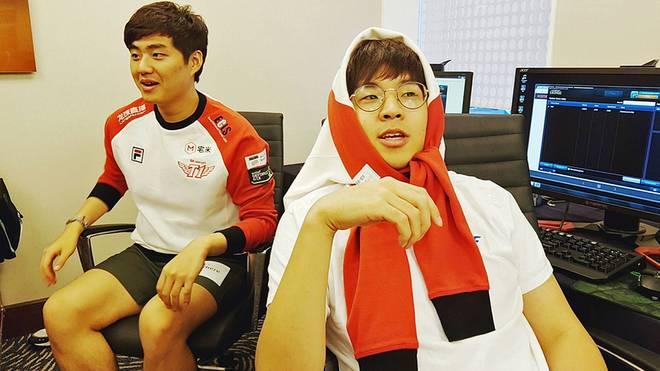Bengi vom SK Telecom T1 (r.) war wertvollster Spieler des ersten Halbfinals in New York