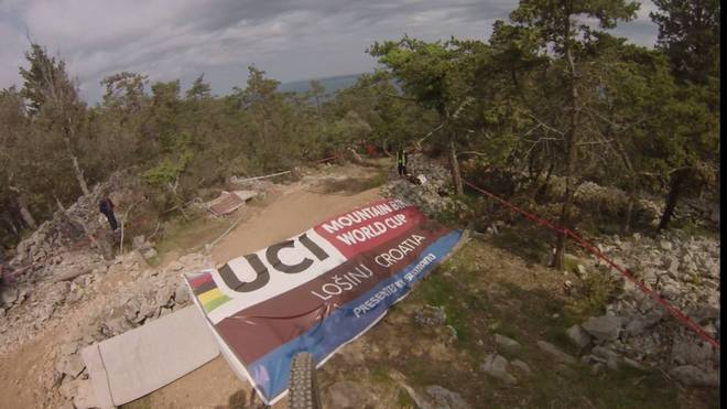 Strecken-Preview DH-Worldcup 2018 in Losinj Kroatien