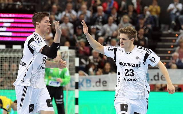 Erfolgsgaranten beim THW Kiel: Rune Dahmke (r.) und Christian Dissinger