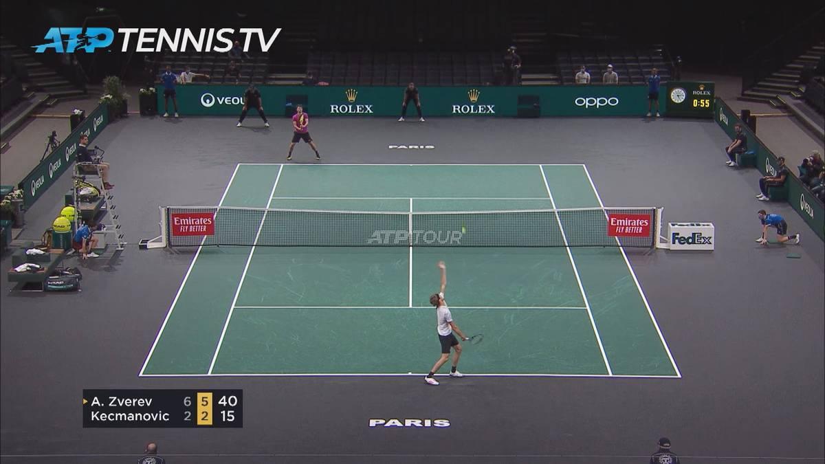 Alexander Zverev hatte zum Auftakt des ATP-Masters-1000-Turniers in Paris-Bercy kaum Probleme. Er bezwang einen Serben klar.