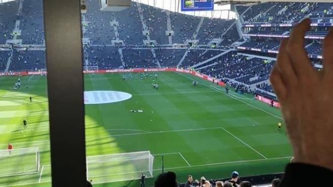 Das Bild eines Zuschauers zeigt eine deutliche Sichtbehinderung im neuen Spurs-Stadion
