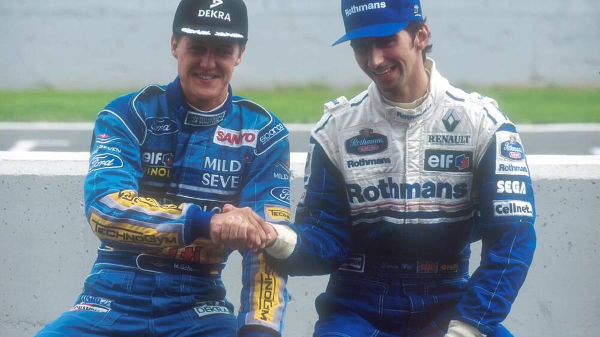 Michael Schumacher und Damon Hill duellierten sich 1994 um den Titel