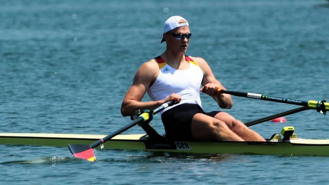 Oliver Zeidler gewinnt die Goldmedaille im Ruder-Einer bei der EM