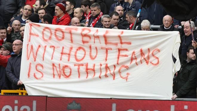 Liverpooler Fans protestieren gegen die geplante Ticketerhöhung