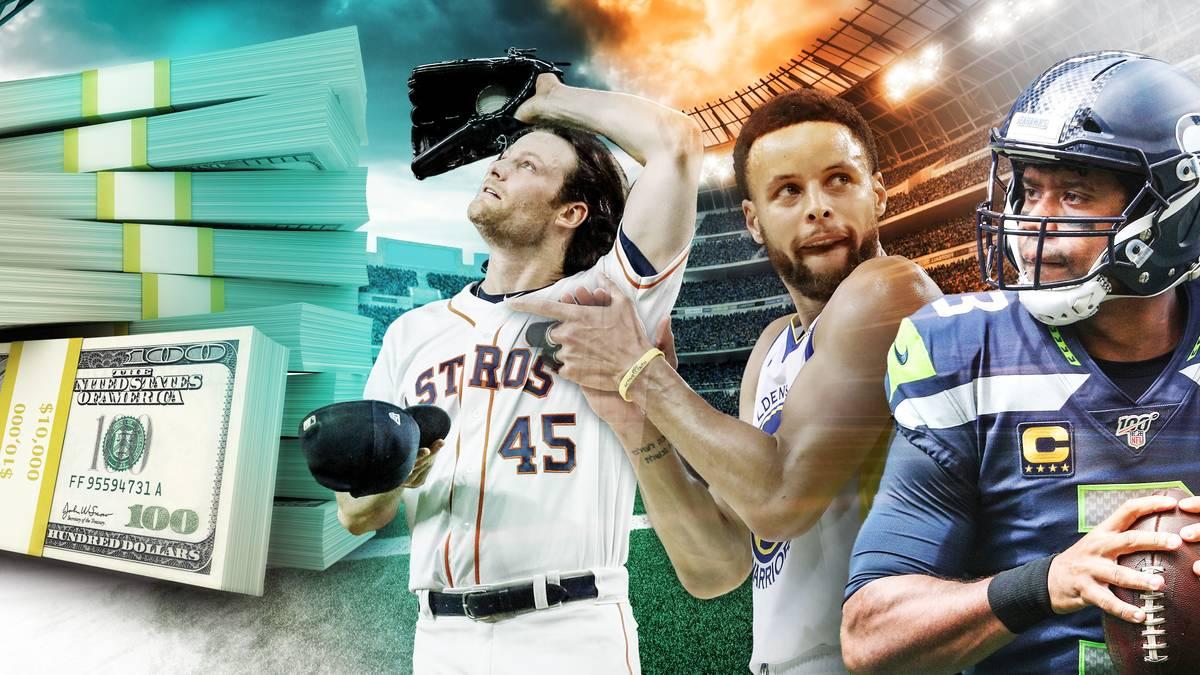 Die höchstdotierten Veträge im US-Sport mit Gerrit Cole, Stephen Curry und Russell Wilson
