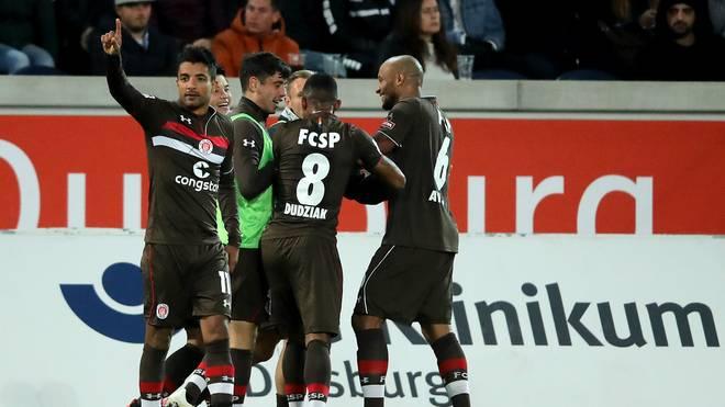 Sami Allagui (l.) erzielte das entscheidende Tor für den FC St. Pauli