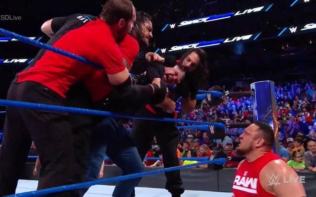Shane McMahon wurde bei WWE SmackDown Live von The Shield aufgemischt