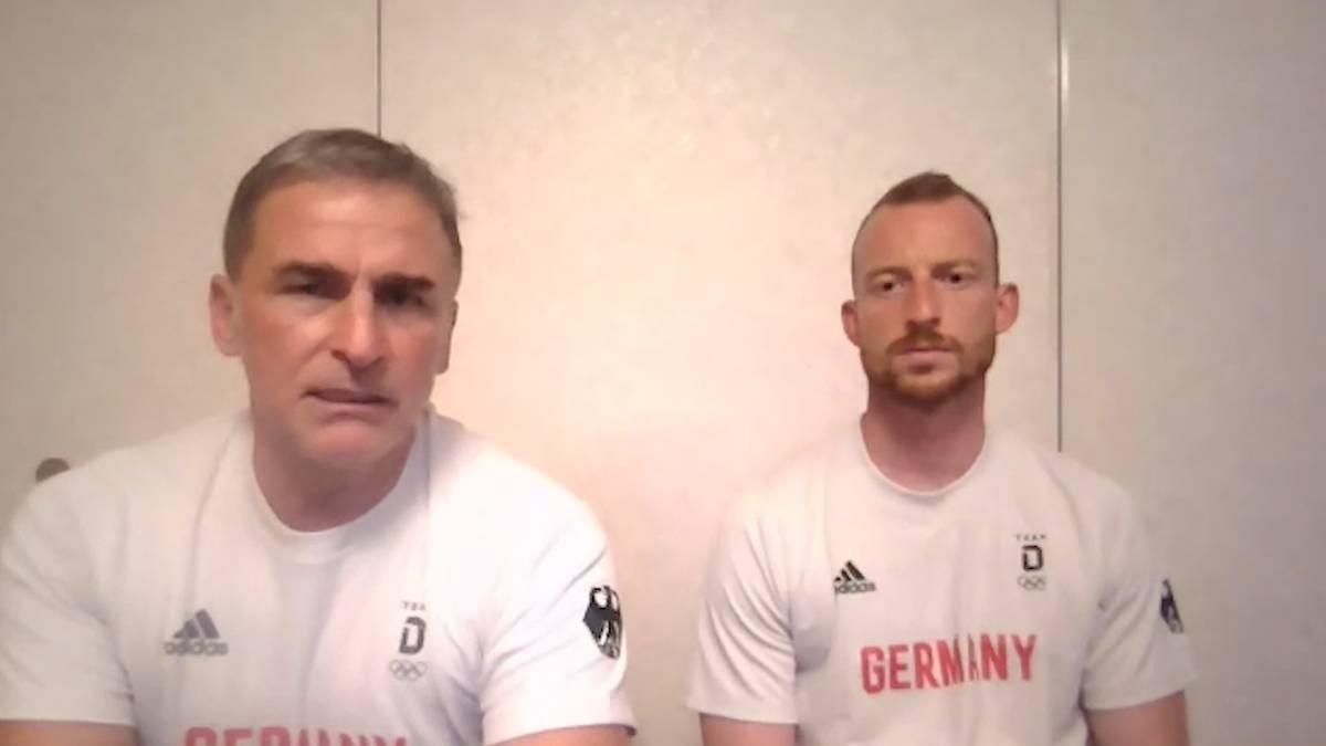 Deutschlands Testspiel vor dem Olympischen Fußballturnier gegen Honduras musste aufgrund von rassistischen Äußerungen des Gegners Abgebrochen werden. Stefan Kuntz und Maximilian Arnold äußern sich.