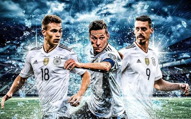 Joshua Kimmich (l.), Julian Draxler (M.) und Sandro Wagner nehmen wichtige Rollen ein