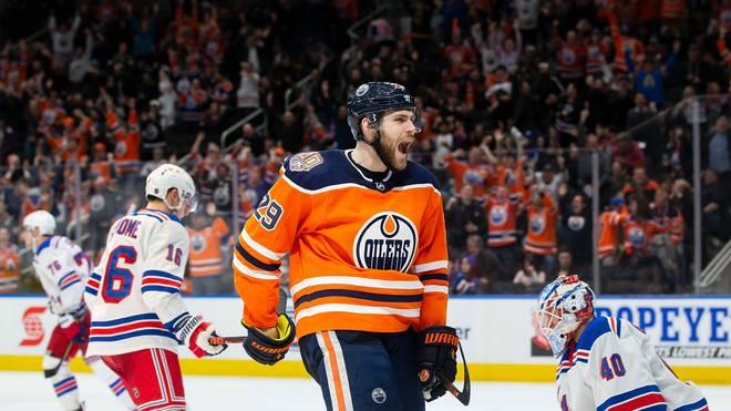 Leon Draisaitl von den Edmonton Oilers erzielte seinen 100. Scorerpunkt in dieser Saison