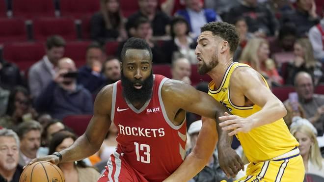 James Harden erzielte beim Sieg der Houston Rockets gegen die Golden State Warriors 27 Punkte