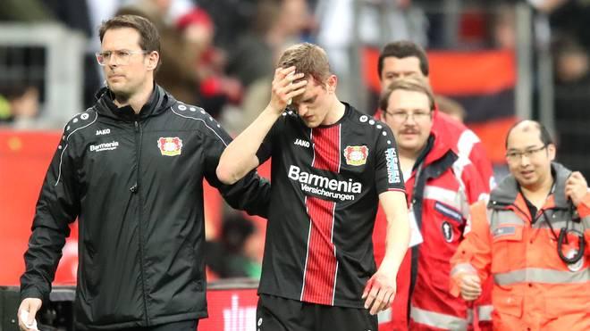 Bayer Leverkusen: Einsatz von Abwehrchef Sven Bender gegen Hannover fraglich, Sven Bender hat sich gegen Freiburg eine Kopfverletzung zugezogen