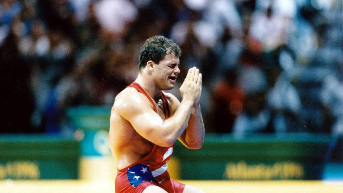 Kurt Angle gewann 1996 Gold im Ringen bei Olympia in Atlanta