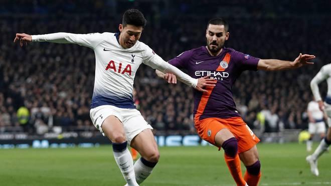 Ilkay Gündogan (r.) steht im Rückspiel gegen Tottenham Hotspur in der Startelf von ManCity