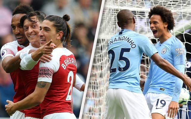 Mesut Özil und Leroy Sane durften sich am Samstag in der Premier League über Treffer freuen