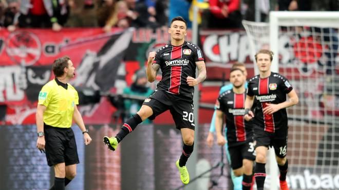 Charles Aranguiz brachte Bayer Leverkusen früh auf die Siegerstraße