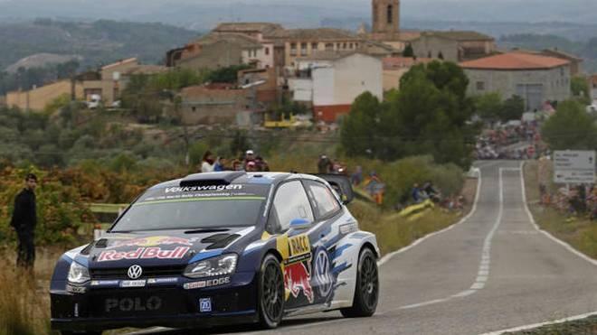 Sebastien Ogier hatte am Samstag in Spanien keine Gegner (mehr)