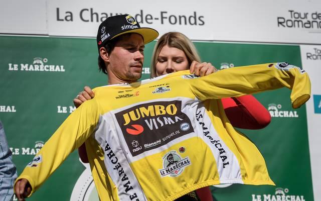Primoz Roglic hat das Gelbe Trikot bei der Tour de Romandie erfolgreich verteidigt