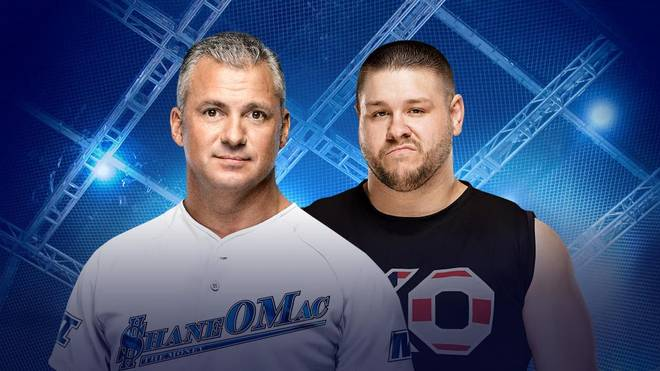 Bei WWE Hell in a Cell 2017 trifft Shane McMahon (l.) auf Kevin Owens