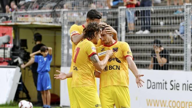 Xamax Neuchatel hat mit einer irren Aufholjagd gegen den FC Aarau den Abstieg verhindert