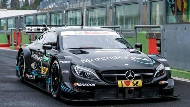 Der neue Mercedes beim DTM-Test in Vallelunga