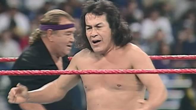 Perro Aguayo Sr. trat 1997 beim Royal Rumble von WWE an
