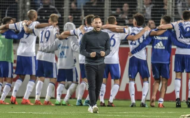 Domenico Tedesco steht mit Schalke auf Tabellenplatz vier