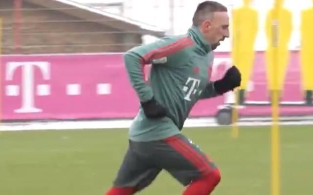 FC Bayern: Franck Ribery nach Muskelfaserriss wieder im Training, Franck Ribery stand am Montag erstmals wieder auf dem Platz