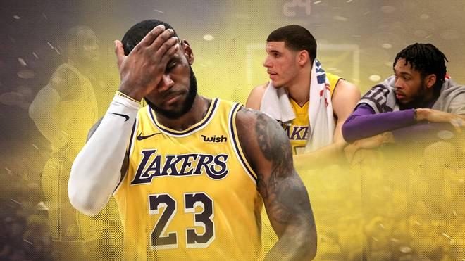 NBA: LeBron James, Lonzo Ball und Brandon Ingram stecken mit den Los Angeles Lakers in der Krise