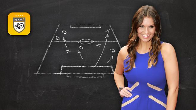 Laura Wontorra freut sich auf die neue Saison des Bundesliga Managers von SPORT1