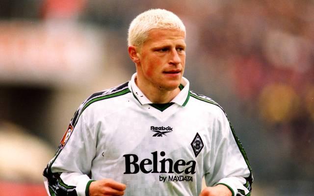 Max Eberl im Jahr 1999 - kurz nach seiner Unterschrift bei Borussia Mönchengladbach