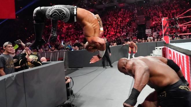 Nicht nur Ricochet setzte bei WWE Monday Night RAW gleich ein Ausrufezeichen