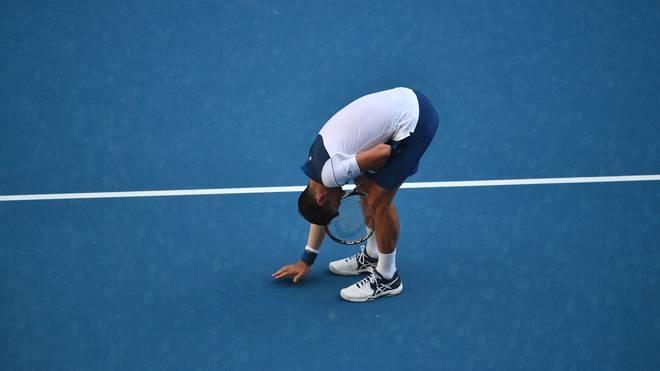 Novak Djokovic schlug Gael Monfils bei fast 40 Grad Außentemperatur bei den Australian Open
