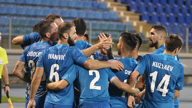 Die Zenit-Spieler feierten das Mega-Comeback vor leeren Zuschauerrängen