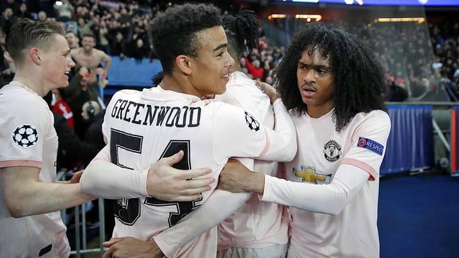 Scott McTominay (l.), Mason Greenwood (M.) und Tahith Chong (r.) sorgen bei Manchester United für Furore