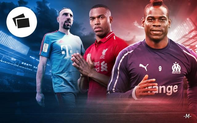 Franck Ribéry, Daniel Sturridge und Mario Balotelli suchen einen neuen Klub
