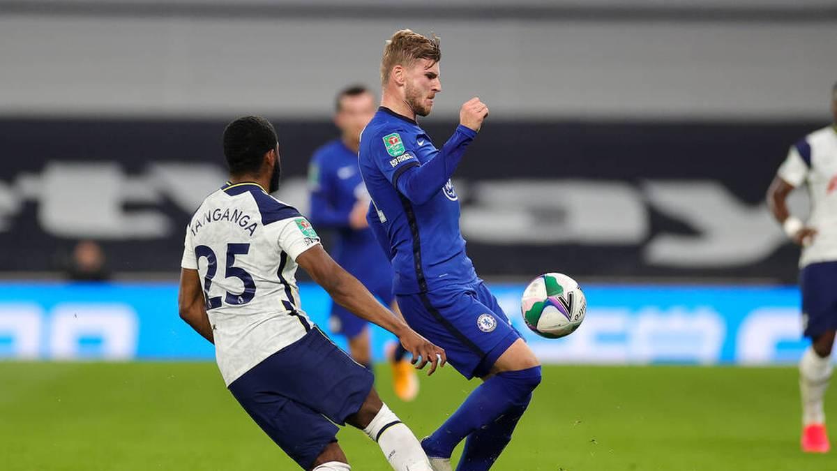 Timo Werner erzielt gegen Tottenham sein erstes Tor für Chelsea
