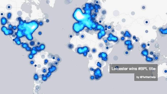 Weltweit lief Twitter nach dem Triumph von Leicester heiß