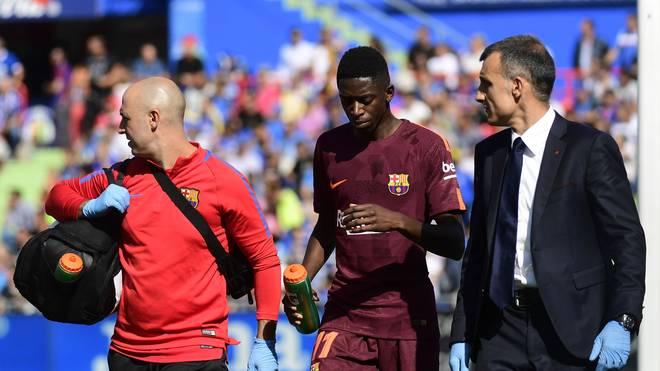 Ousmane Dembele musste in Getafe schon früh verletzt vom Feld