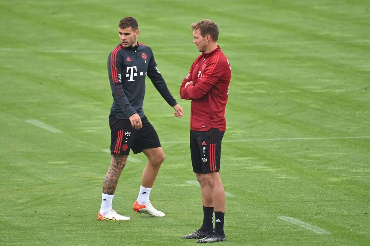 Der FC Bayern kämpft um wichtige Punkte in der Bundesliga. Vor dem Topspiel gegen Leverkusen bestimmt aber der Wirbel um Lucas Hernandez das Bild.