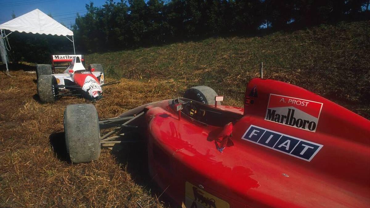 Durch den legendären Crash direkt nach dem Start in Suzuka sicherte sich McLaren-Pilot Ayrton Senna 1990 den WM-Titel gegen Ferrari-Fahrer Alain Prost