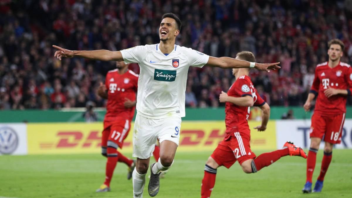 Mit Heidenheim gelingt Robert Glatzel durch seinen Dreierpack gegen Bayern fast eine Pokal-Sensation