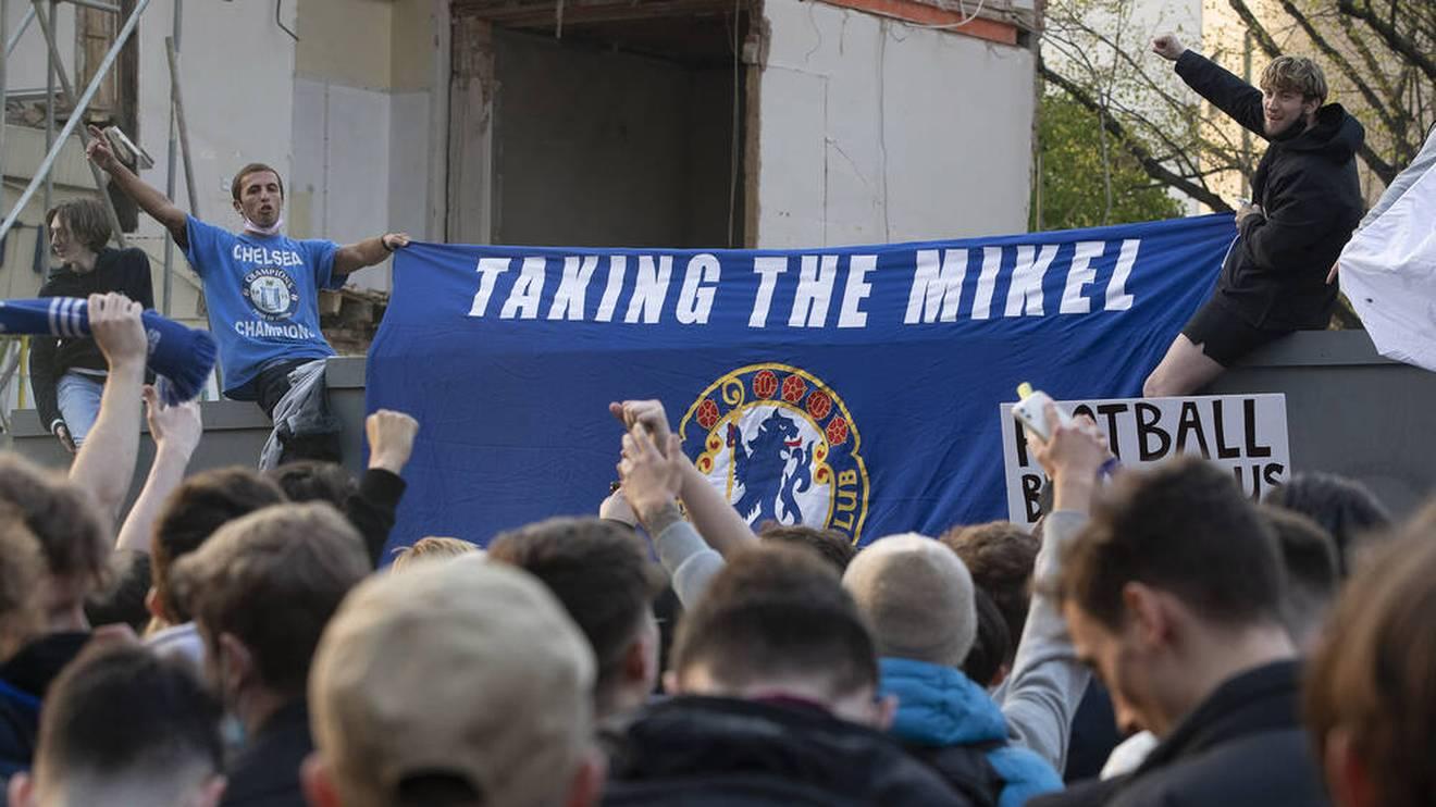 Fans des FC Chelsea protestierten massiv gegen die Super League