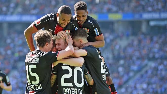 Bayer Leverkusen springt durch den Sieg bei Hertha BSC auf einen Champions-League-Platz