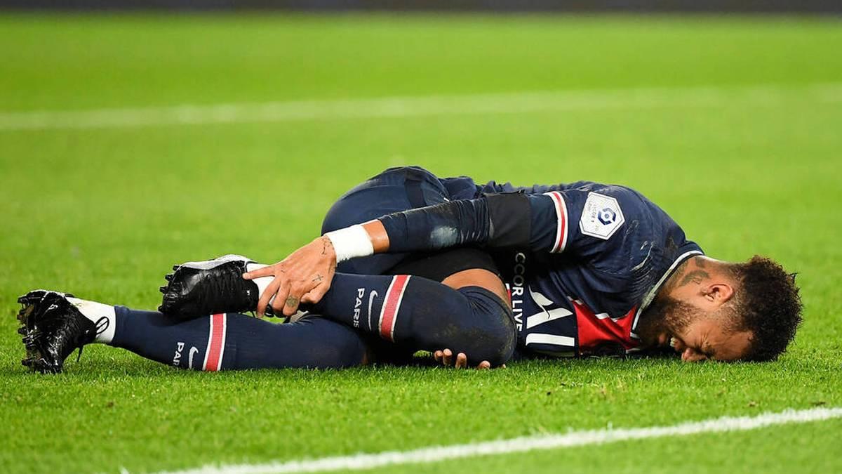 Neymar hat bei PSG immer wieder mit Verletzungen zu kämpfen